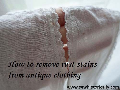 how to remove rust stains from clothes