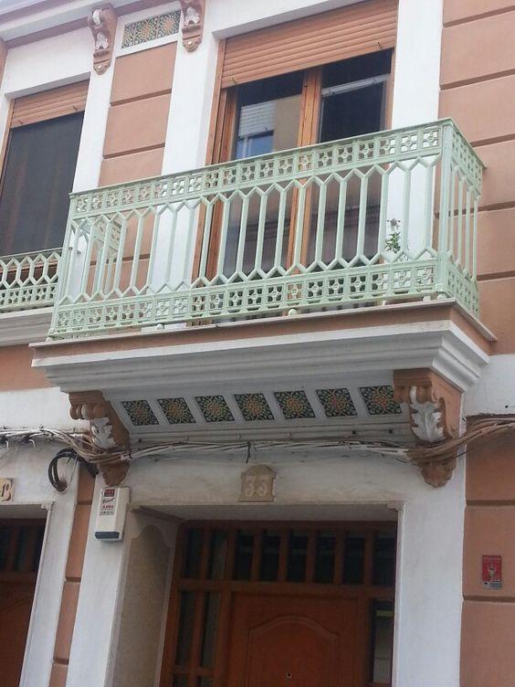 Balcón de hierro fundido