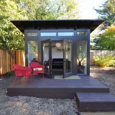 Yoga rooms awesome and real estate investor on pinterest for Prefab garden office