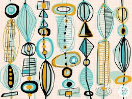 Image result for mid century modern tile art