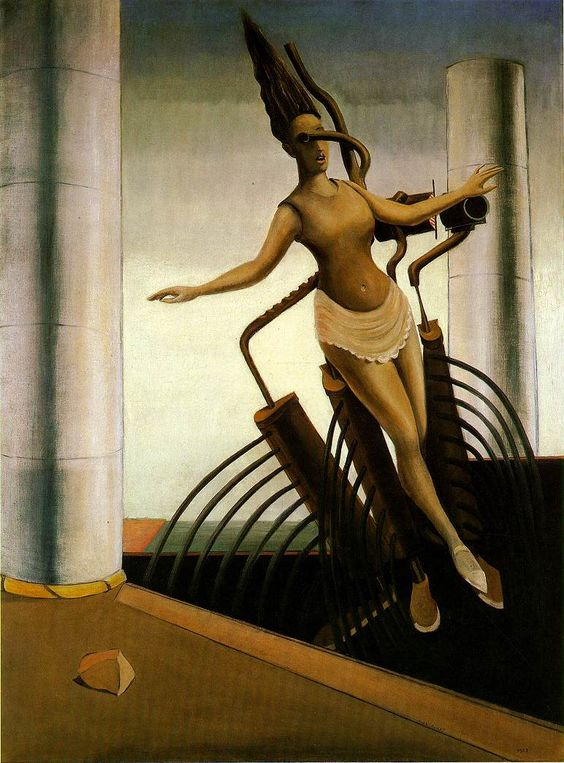 What is the idea behind Max Ernst surrealism painting 'Surrealism and painting'?