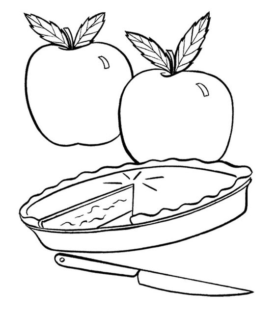 Coloring Pages Apple Pie : Fresh apple pie coloring page action man