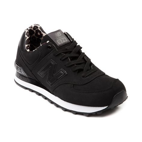 new balance 574 black and leopard