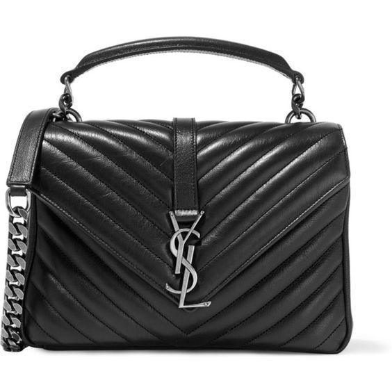 Saint Laurent Monogram College Medium Black Quilted Leather Shoulder...  (€2.190) c379e470a8