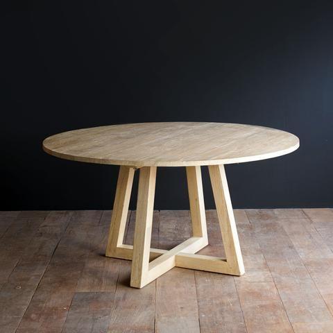 Teak Round Dining Table Java Circle Whitewash In 2020 Dining Table Teak Dining Table Country Dining Tables