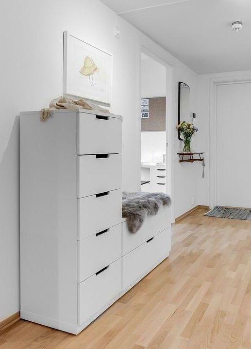 Ikea Nordli Schuhschrank Mit Sitzbank Ikeabedroom In 2020 Ikea
