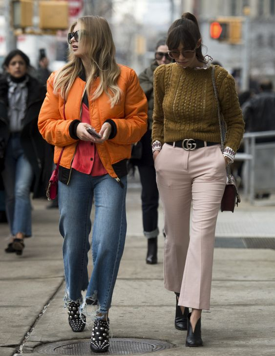 Street style at New York Fashion Week Fall 2017