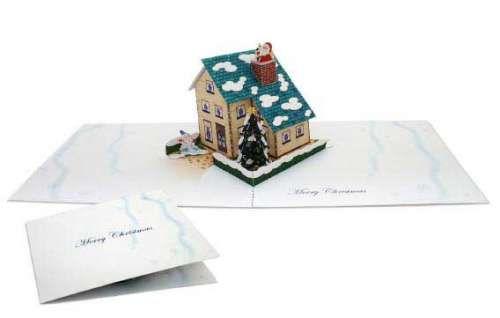 Popup Christmas House Card Papercraft Pop Up Cards Christmas Card Crafts Free Christmas Printables