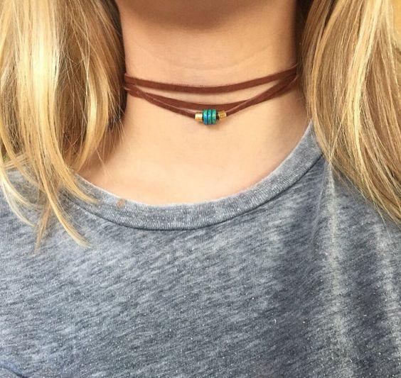 Acento de cuentas de collar de gargantilla triple por designsbyilla: