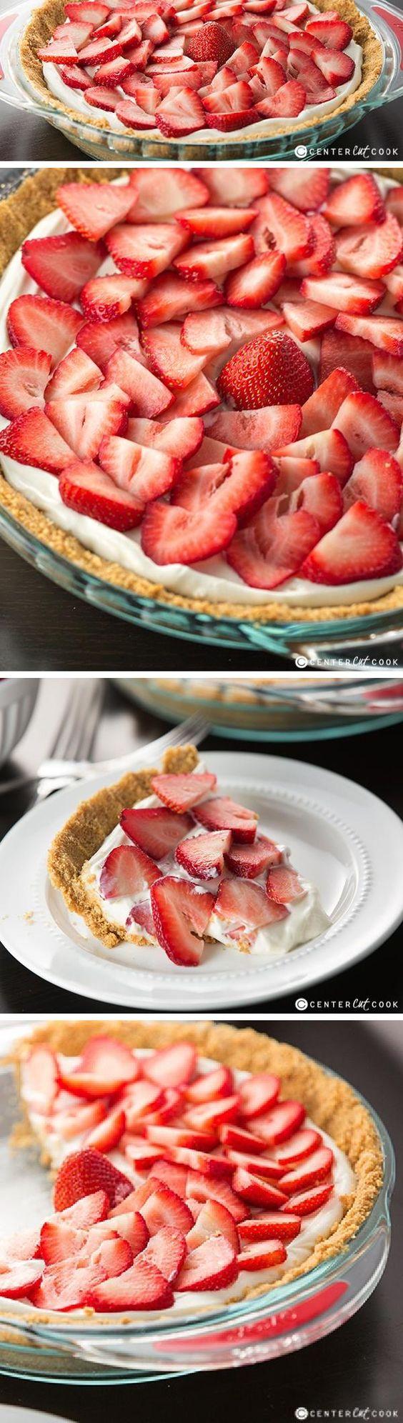 strawberries and cream cream pies strawberries pies cream strawberry ...
