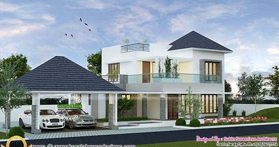 2123 Square Feet Modern House With Separate Porch Kerala House