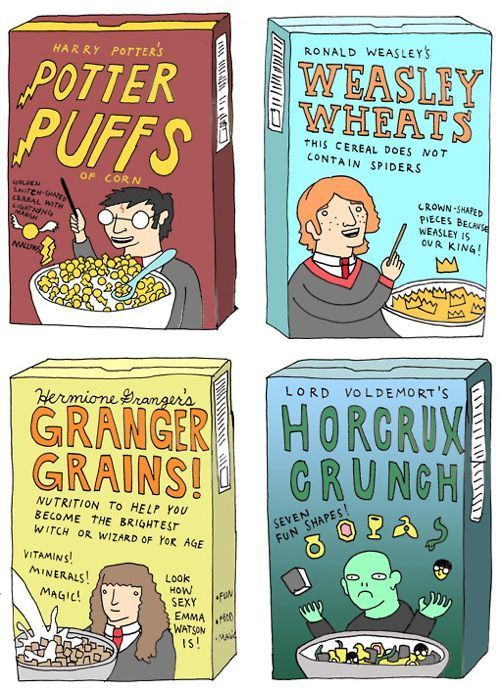 harry potter cereals!