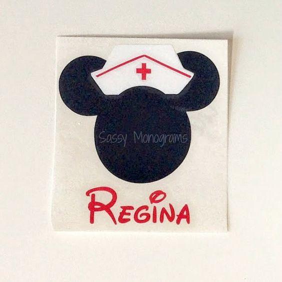 Nurse Minnie Mouse Personalized Monogram by SassyMonogramAndMore, $2.50