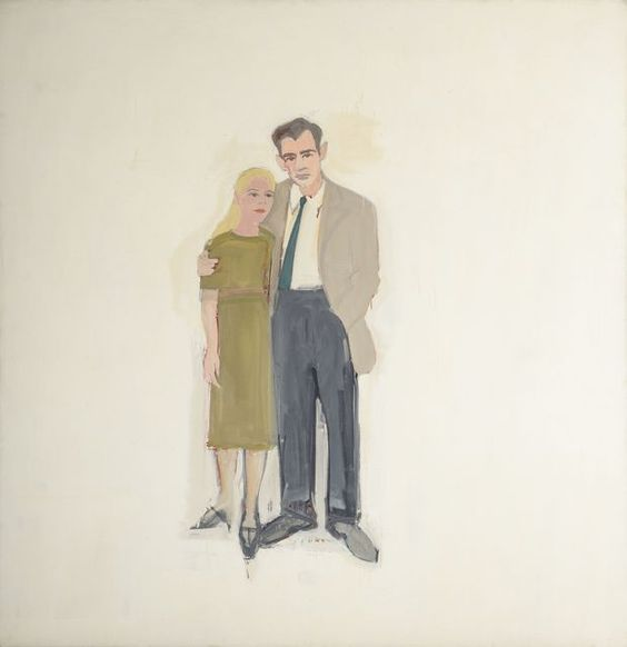 Alex Katz, 'Irving and Lucy,' 1958, Colby College Museum of Art