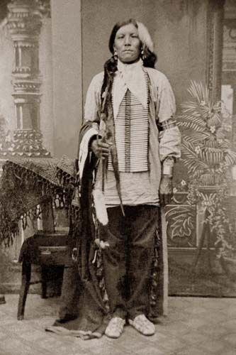"""Crazy Horse, literally """"His-Horse-Is-Crazy"""" or """"His-Horse-Is-Spirited"""" (1840–September 5, 1877). Native American war leader of the Oglala Lakota, he took up arms against the U.S. Federal government to fight against encroachments on the territories and way of life of the Lakota people, including leading a war party at the Battle of the Little Bighorn in June 1876. Caught his first buffalo at 12 and became Chief at 16"""