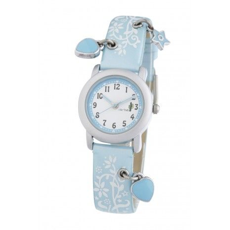 Created in Australia, Cactus make affordable watches for kids and teens. Features include easy to read dials, durable quality, 100m water resistant and shock resistant construction. This Pale Blue Watch With Three Charms is just beautiful.