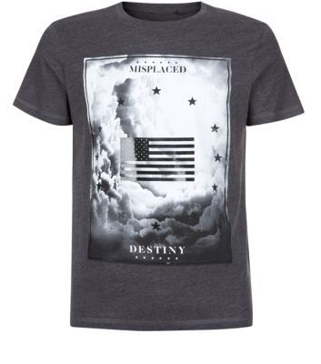 Grey Misplaced Destiny Graphic T-Shirt