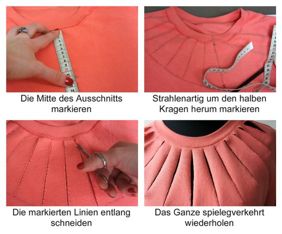 DIY Cut Out Shirt (use Google To translate instructions to English)