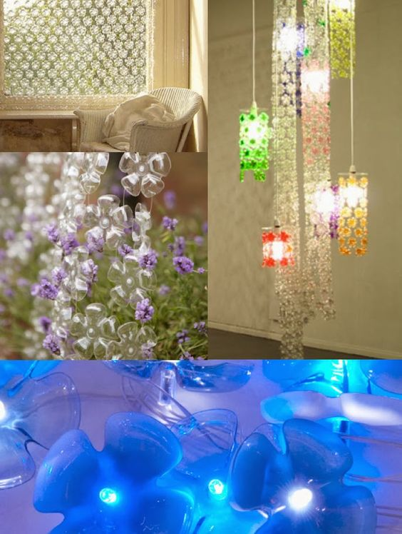 Michelle brand plastic bottles upcycling upcycling for Plastic bottle decoration ideas