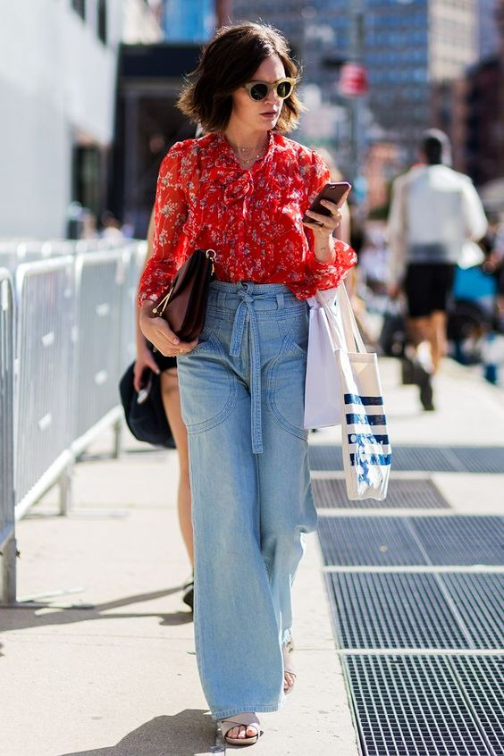 The Cool Denim Trend That's Already Winning in 2018 via @WhoWhatWearUK