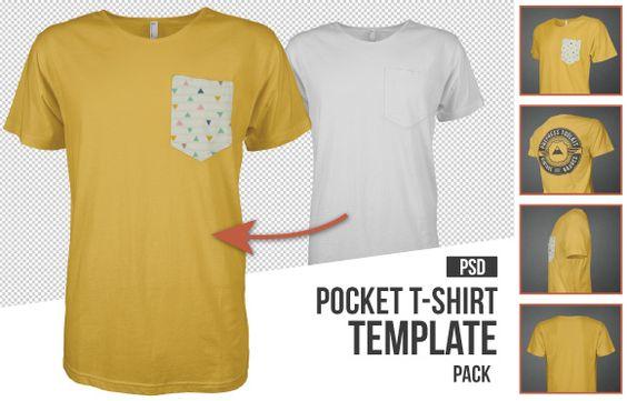 Mens Pocket TShirt Template Mockup Psd  Best Of MenS Apparel