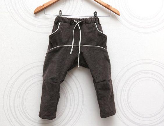 Toddler boys corduroy pants in brown Adjustable waist Comfortable ...