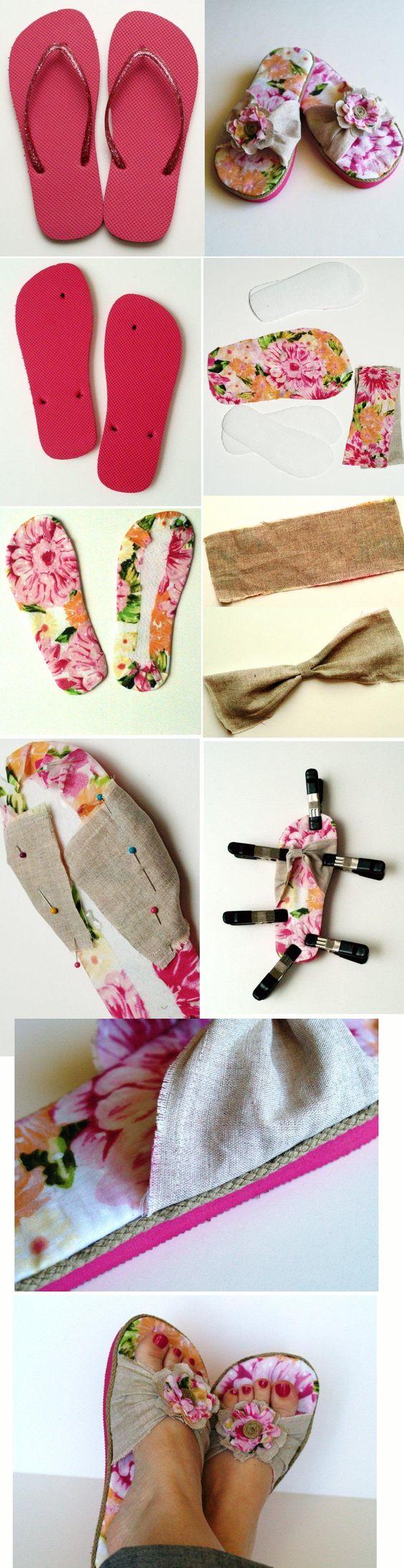 Flip-Flop Refashion - | Flip flops and DIY and crafts