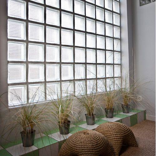 ouverture mur maison brique de verre - Recherche Google Bathroom