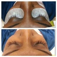 - Au Natural Set Of Eyelash Extensions $200 80 Lashes on Each eye chose from synthetic, silk, or mink eyelashes. Lasts anywhere from 2 to 7 weeks depending on the natural lash cycle of the lashes. Book now 24/7 www.platinumimageservices.com we do #housecalls in #LosAngeles.