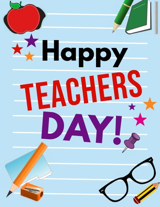 Event Flyers Teacher S Day Flyer In 2020 Happy Teachers Day Teachers Day Event Flyers