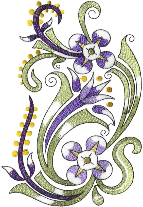 Decorative Flowers - Volume No.17 by Embroidery Emotions, via Behance