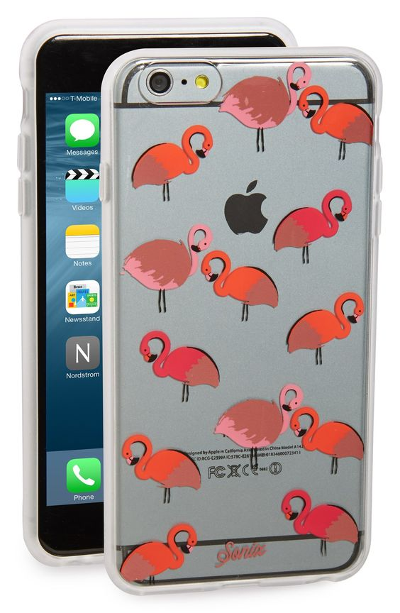 fun flamingo print iPhone case