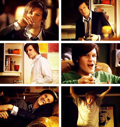 [gif set] Can we take a quick moment to appreciate how completely ADORABLE Matt Smith was in Party Animals???
