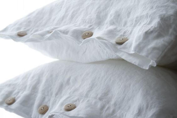Linen  pillowcase - standard , queen , king, euro sham , body pillow size. Softened & stonewashed  made by mooshop