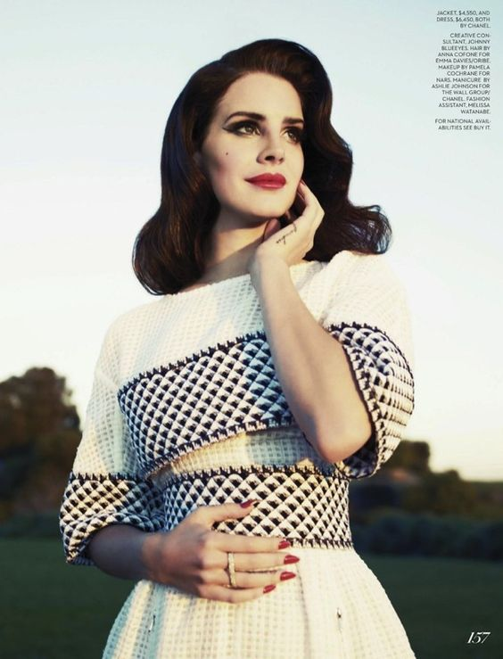 Lana Del Rey Fashion Canada Summer 2013 issue Photographed by Mark Williams Gingham Dress
