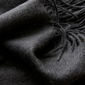 Superior Cashmere throw - charcoal