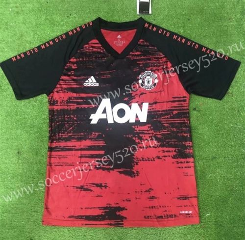 2020 2021 Manchester United Red Black Thailand Soccer Training Jersey In 2020 Soccer Training Manchester United Manchester United Football