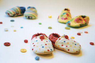 Make your own baby booties.  Stardust Shoes offers a free downloadable pattern!
