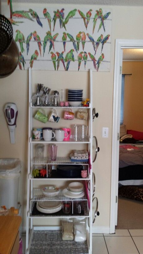 My little small kitchen shelf fix.