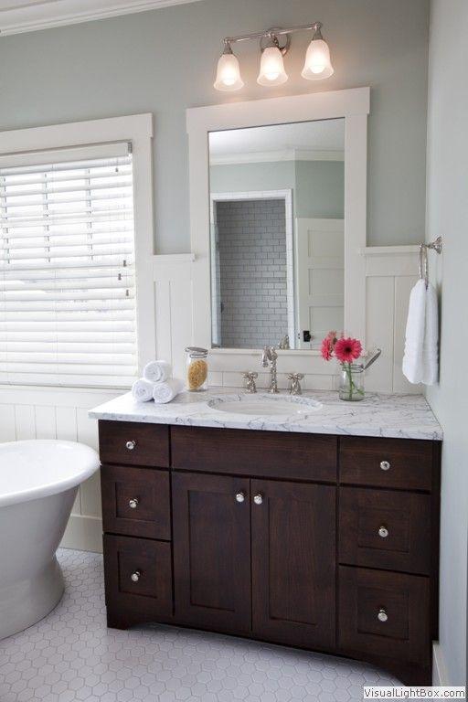 42++ Bathroom with dark wood vanity type
