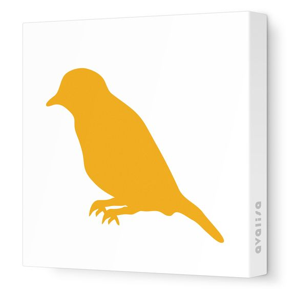Orange Bird Silhouette - Animal Silhouette - Avalisa.com #nursery #wallart #art #canvas #design