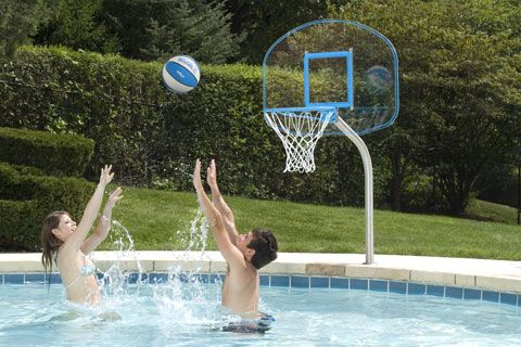 The Best Basketball Backboard Hoop For Your Pool Pool Games Pinterest The O 39 Jays Pools