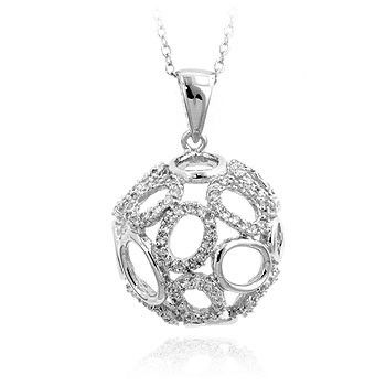 1.00ctw Multiple Oval Pendant - a sterling silver necklace