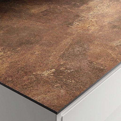 Zenith Rouille Laminate Worktop Upstand 3m Laminate Worktop Copper Splashback Black And Copper Kitchen