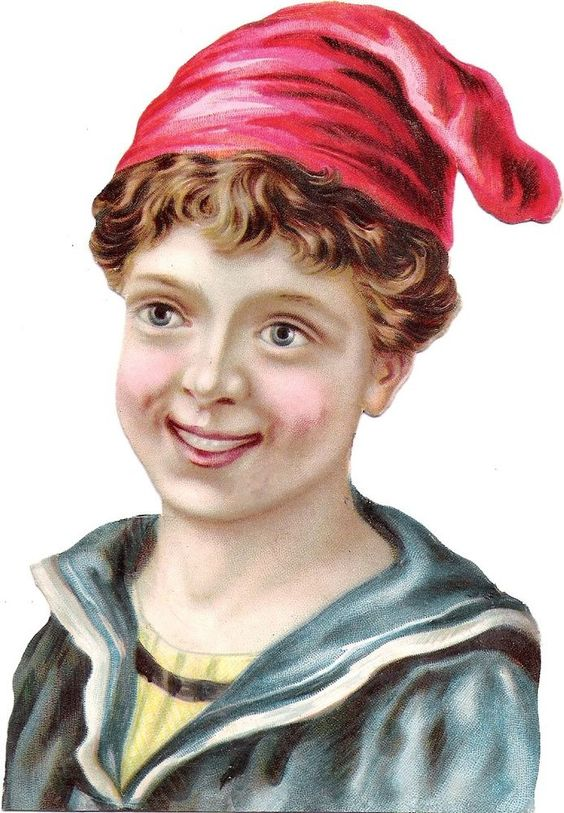 Oblaten Glanzbild scrap diecut chromo Kind  14cm child Knabe Matrose marin boy: