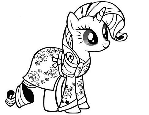 My Little Pony Rarity Coloring Pages My Little Pony Coloring My Little Pony Rarity My Little Pony Unicorn