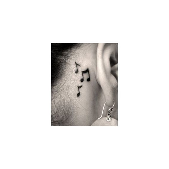Small Music Tattoos ❤ liked on Polyvore featuring accessories and body art