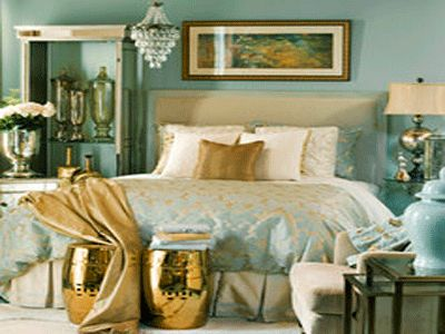 Blue and duck eggs and ducks on pinterest for Cream and gold bedroom designs