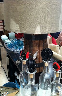 Vintage fishing reels turned into wine bottle stoppers at Gump's in San Francisco