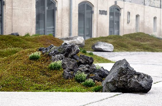 The Nordic Garden in front of Restaurant Noma, Copenhagen. Architects: Polyform.